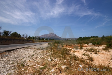 Plant cloud road javea europe.
