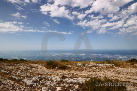 Plant cloud spain mountain javea.