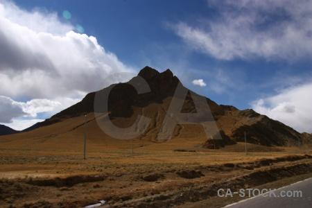 Plateau asia mountain arid friendship highway.