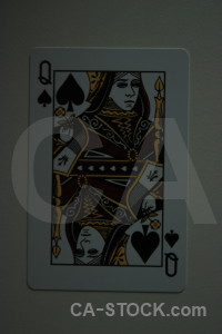 Playing card black object.