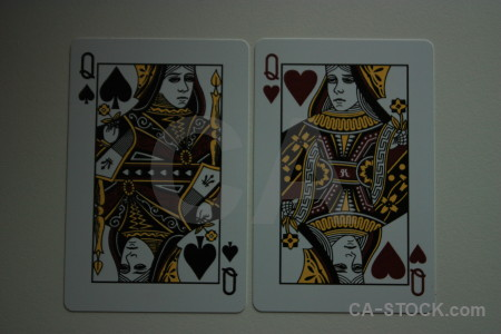 Playing card object gray.