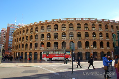 Plaza de toros europe archway brown bullring.