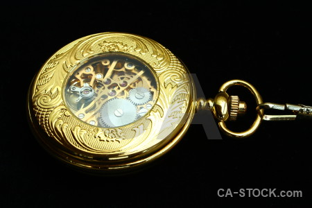Pocket watch object black.