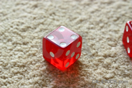 Poker red object dice.