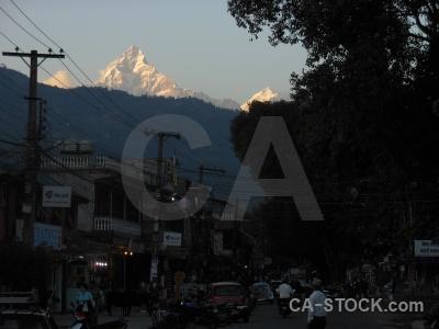 Pokhara asia snow machapuchre machapuchare.