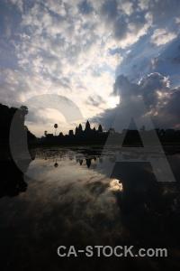 Pond cloud asia angkor water.
