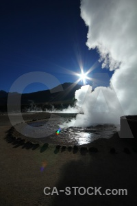 Pool el tatio sun south america water.