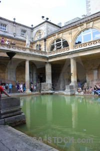 Pool europe building roman baths water.