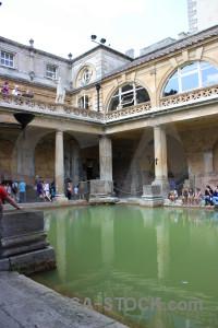 Pool europe building roman baths water.