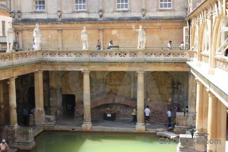 Pool roman baths europe person building.