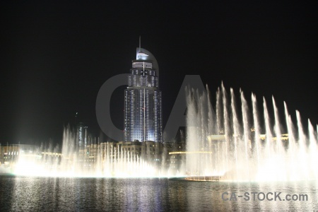 Pool uae western asia fountain water.