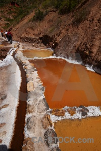 Pool water peru andes salt.
