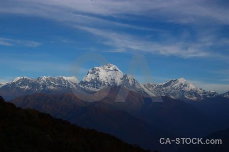 Poon hill cloud dhaulagiri tukche peak himalayan.