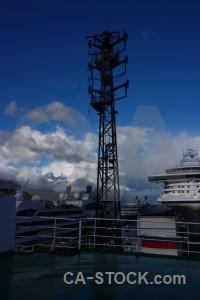 Port tierra del fuego sky ushuaia railing.