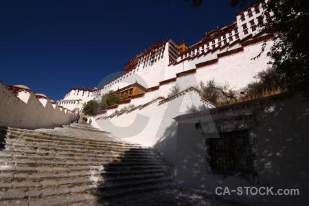 Potala palace sky tree lhasa east asia.