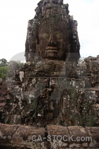 Prasat bayon asia carving block buddhism.
