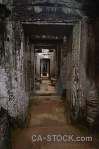 Preah khan siem reap ruin block angkor.
