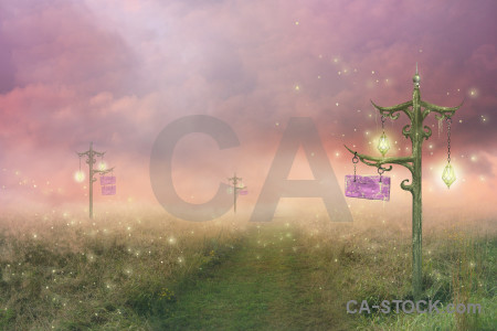 Premade fantasy green backgrounds pink.