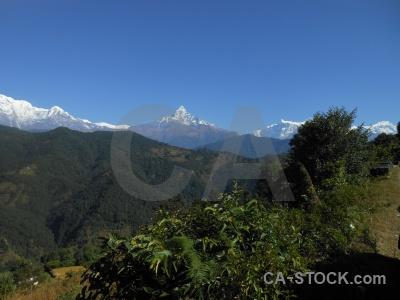 Prithvi highway machapuchre nepal snow hiunchuli.