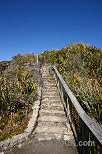 Punakaiki staircase mountain south island sky.