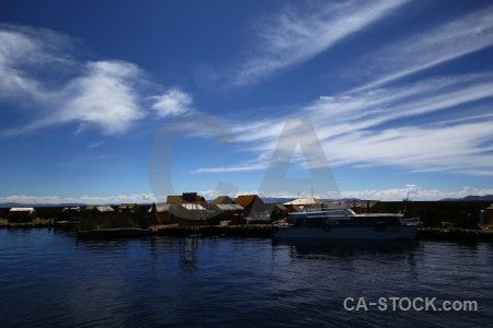 Puno floating island altitude sky lake titicaca.