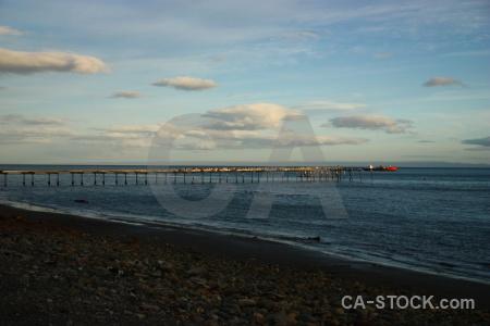 Punta arenas south america patagonia sky sea.