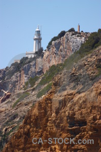 Punta estrella lighthouse brown javea spain.