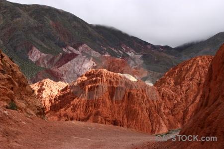Purmamarca cliff cloud argentina cerro de los siete colores.