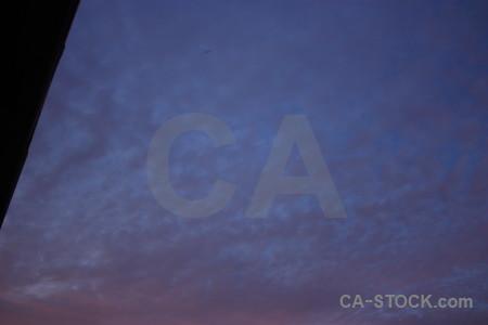 Purple blue cloud sky.