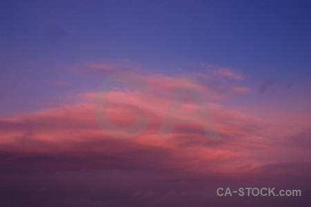 Purple blue sunset sunrise cloud.