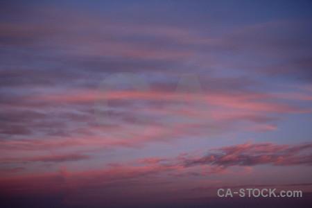Purple cloud spain sunrise sunset.