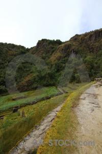 Puyupatamarca altitude andes inca trail ruin.