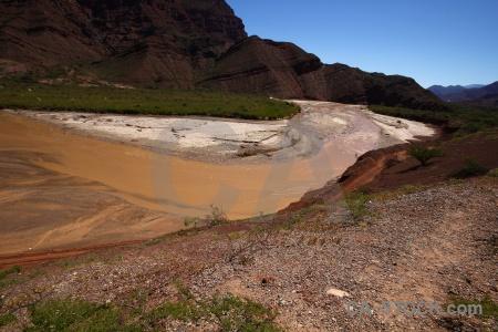 Quebrada de cafayate argentina quebrada las conchas landscape water.