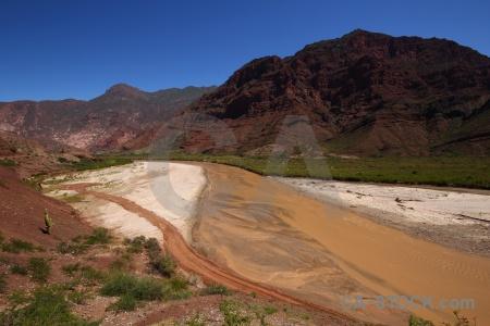 Quebrada de las conchas rio reconquista quebrada cafayate calchaqui valley sky.
