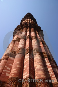 Qutab minar delhi monument sky south asia.