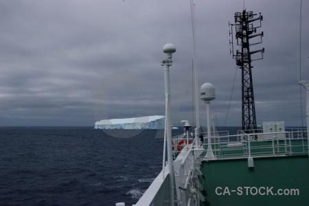 Railing ioffe iceberg drake passage ice.