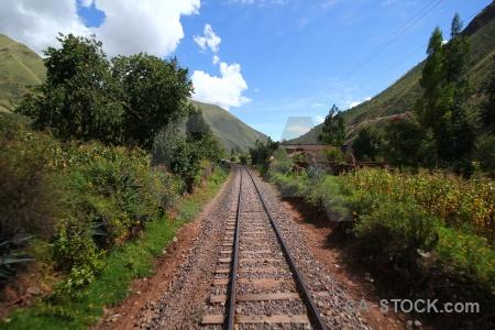 Railway andean explorer sky landscape grass.