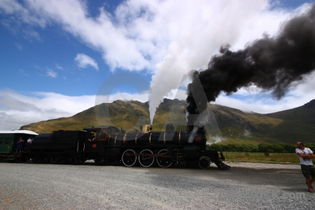Railway kingston flyer sky south island carriage.