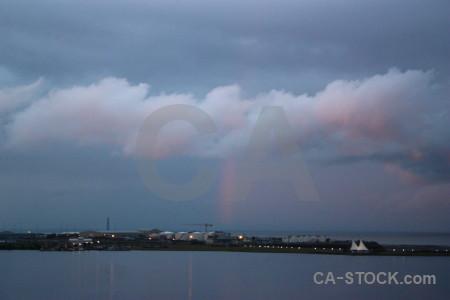Rainbow cloud sky.