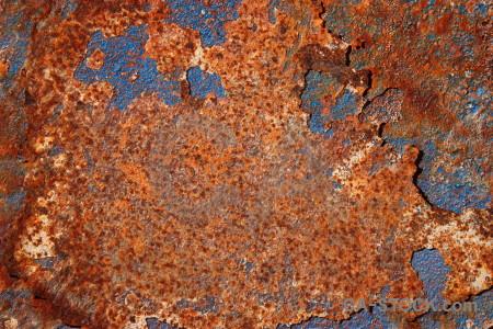 Red blue texture orange brown.