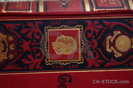 Red book object.