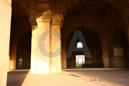 Red fort new delhi asia building archway.