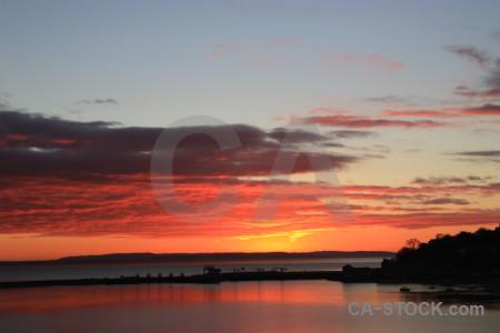 Red orange sunset sunrise sky.