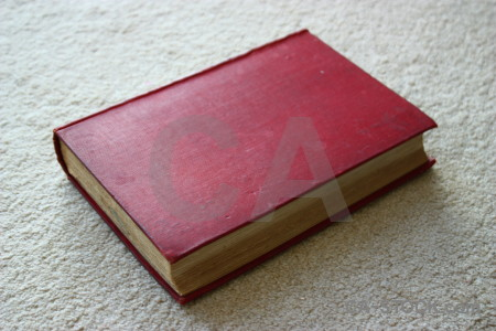 Red pink object book.