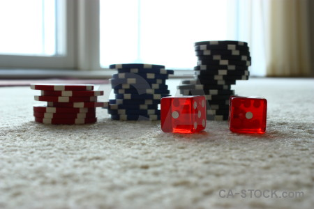 Red poker object white chip.
