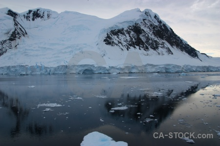Reflection adelaide island gunnel channel antarctic peninsula sea.