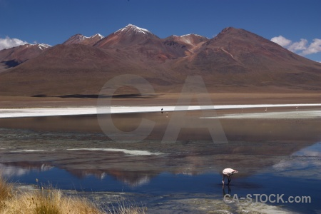 Reflection altitude water south america mountain.