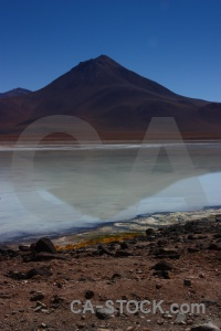 Reflection bolivia laguna blanca sky water.