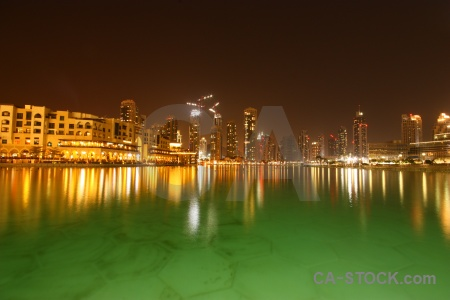 Reflection uae water asia night.