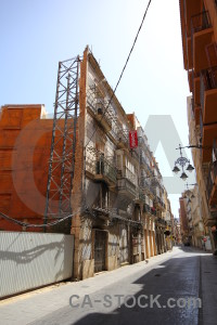 Repair spain scaffolding derelict cartagena.